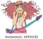 fashionable city woman   Shutterstock .eps vector #69924130