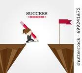 success | Shutterstock .eps vector #699241672