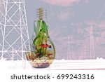 balance energy concept. good... | Shutterstock . vector #699243316