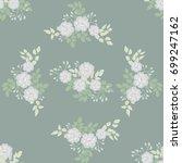 seamless folk pattern in small... | Shutterstock . vector #699247162