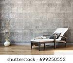modern bright interiors. 3d... | Shutterstock . vector #699250552