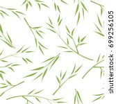 seamless background with bamboo ... | Shutterstock .eps vector #699256105
