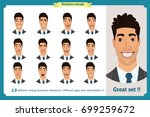 face expressions of a man... | Shutterstock .eps vector #699259672