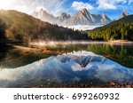 gorgeous composite mountain... | Shutterstock . vector #699260932