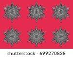 raster illustration. a colorful ... | Shutterstock . vector #699270838