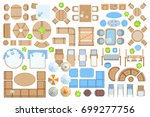 icons set. outdoor furniture... | Shutterstock .eps vector #699277756