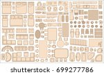 icons set of interior  top view ... | Shutterstock .eps vector #699277786