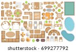 icons set. outdoor furniture... | Shutterstock .eps vector #699277792