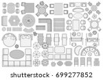 icons set. outdoor furniture... | Shutterstock .eps vector #699277852