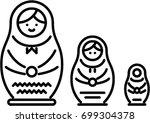 nesting doll outline icon | Shutterstock .eps vector #699304378