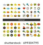 set of icons in different style ... | Shutterstock .eps vector #699304795