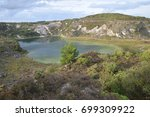 china clay pit st austell... | Shutterstock . vector #699309922