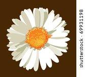 daisy flower. vector. | Shutterstock .eps vector #69931198
