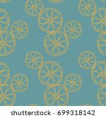 seamless vector pattern.... | Shutterstock .eps vector #699318142