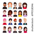 group of young people's .set of ... | Shutterstock .eps vector #699318346