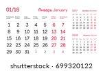calendar quarter for 2018.... | Shutterstock .eps vector #699320122