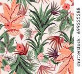 beautiful seamless vector of... | Shutterstock .eps vector #699325288
