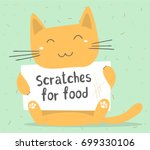 vector illustration of ginger... | Shutterstock .eps vector #699330106