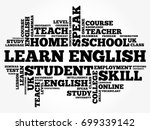 learn english word cloud... | Shutterstock .eps vector #699339142