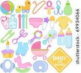 vector of accessories and tools ... | Shutterstock .eps vector #69934066
