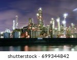 factory night view at yokkaichi ... | Shutterstock . vector #699344842