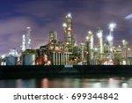 factory night view at yokkaichi ...   Shutterstock . vector #699344842