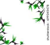 watercolor strelitzia bouquet.... | Shutterstock . vector #699345478
