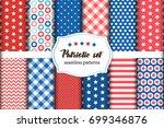 cute set of american patriotic... | Shutterstock .eps vector #699346876