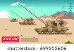 military modern army in a... | Shutterstock .eps vector #699352606