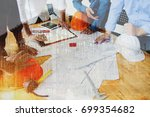 engineering team consulting and ... | Shutterstock . vector #699354682