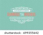 vintage decorative frames and... | Shutterstock .eps vector #699355642
