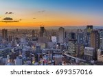 city building downtown with... | Shutterstock . vector #699357016