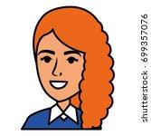 beautiful businesswoman avatar... | Shutterstock .eps vector #699357076