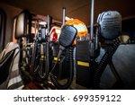 firefighter equipment in a fire ... | Shutterstock . vector #699359122
