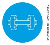 weight lifting device gym | Shutterstock .eps vector #699362452