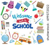 set of different school... | Shutterstock . vector #699372022