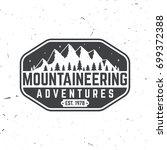 mountaineering adventure badge. ... | Shutterstock .eps vector #699372388