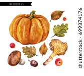 Watercolor Autumn Set With A...