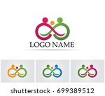infinity people family care logo | Shutterstock .eps vector #699389512