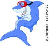 cute shark cartoon | Shutterstock .eps vector #699393412