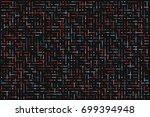 dot line technology abstract... | Shutterstock .eps vector #699394948