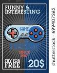 color vintage game industry... | Shutterstock .eps vector #699407362