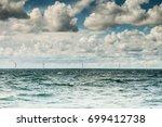vertical axis wind turbines... | Shutterstock . vector #699412738