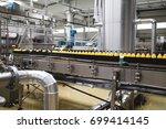 industrial factory indoors and...   Shutterstock . vector #699414145
