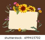 Autumn Vintage Frame  Yellow...