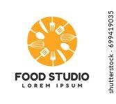 food studio vector logo.... | Shutterstock .eps vector #699419035