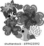 illustration of clover jewel...   Shutterstock .eps vector #699423592