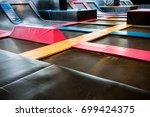 interconnected trampolines for... | Shutterstock . vector #699424375