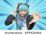 japan anime cosplay   cartoon... | Shutterstock . vector #699426466