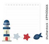 blue red sea lighthouse marine... | Shutterstock .eps vector #699430666